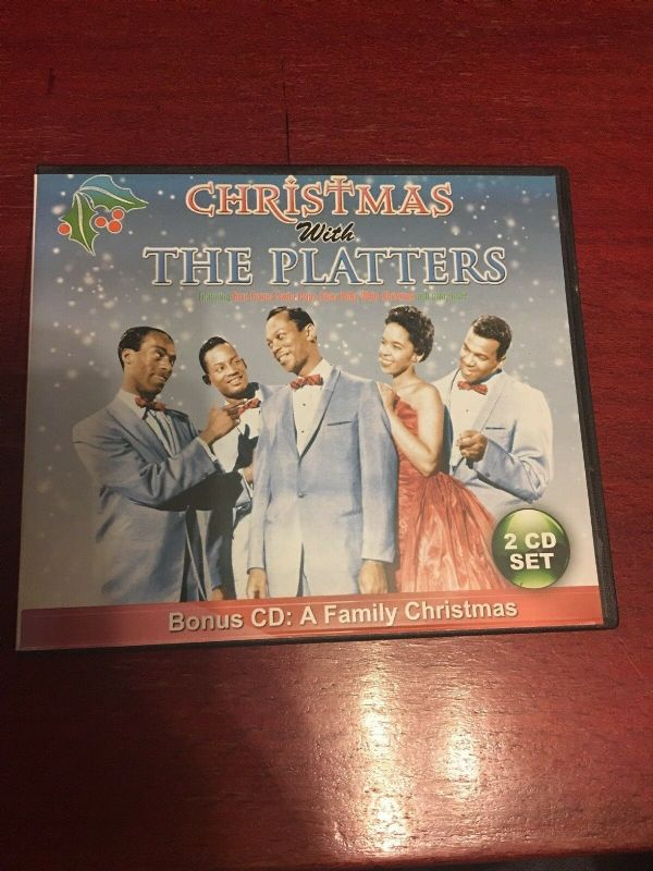 CHRISTMAS WITH THE  PLATTERS - BONUS CD: FAMILY CHRISTMAS ( 2 DISC SET 2003) NEW N SEALED
